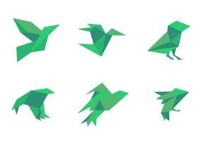 Vetores de pássaros maravilhosos simples simples