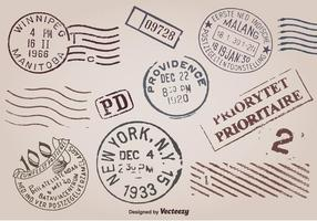 Selos postais vetor