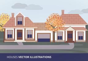 Ilustração vetorial das casas vetor