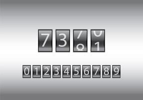 Ilustração vetorial gratuita do contador de números vetor