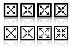 Vetores de ícones de tela cheia