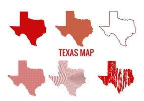 Vetores do mapa do Texas