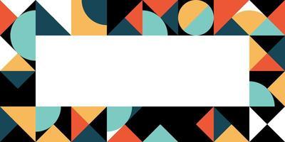 quadro colorido retrô em negrito geométrico vetor
