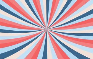 fundo de explosão de vermelho, azul e pêssego vetor
