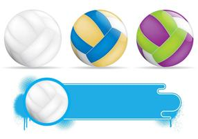 Banners de voleibol vetor