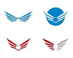 conjunto de modelo de logotipo de asa vetor