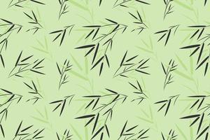 padrão de folha de bambu sem costura vetor