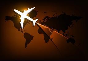 Fundo de viagens vetoriais vetor