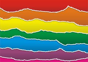 Vetor de papel colorido rasgado