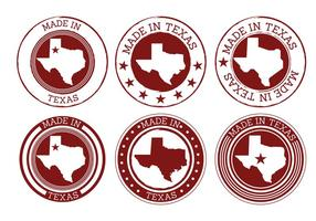 Feito em vetores de texas