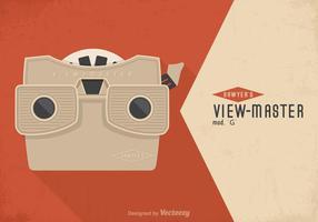 Cartaz livre do vetor do vintage Viewmaster