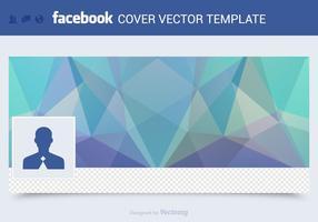 Modelo livre do vetor da capa do Facebook