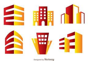 Vermelho e Orange Hotels Logo Vector