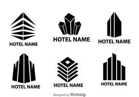 Vetores grandes do logotipo do hotel