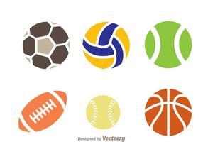 Vetores de ícones bola esportiva