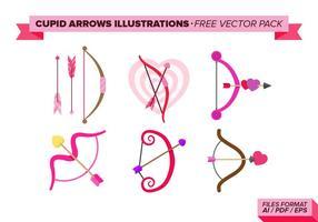 Ilustrações de setas de Cupido Pacote de vetores grátis