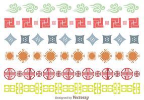 Borda do ornamento da cultura japonesa vetor