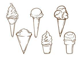 Ilustrações de cone de neve vetor