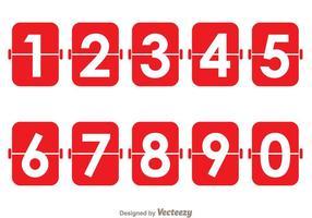 Contador numérico vermelho vetor