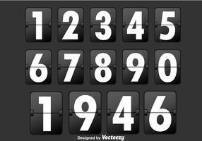 Contador de números pretos vetor