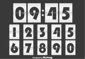 Contador de números brancos vetor