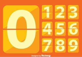 Contador de números planos vetor