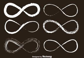 Ícones desenhados por giz infinito vetor