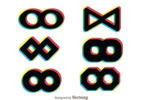 Ícones multicolor de loop infusado vetor