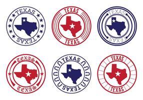 Vetores do emblema do mapa de texas
