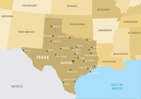 Mapa de Texas vetor