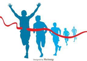 Vetor de corredor de maratona