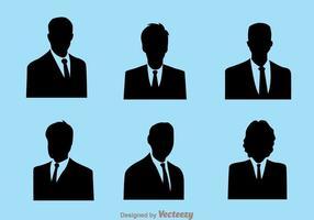 Ícones do homem de negócios vetor