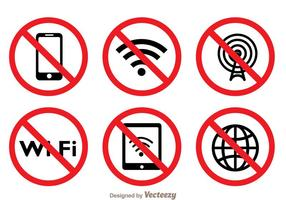 Símbolo Bloqueado Wi-Fi vetor