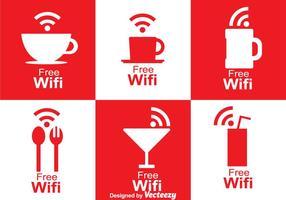 Símbolo de café Wifi vetor