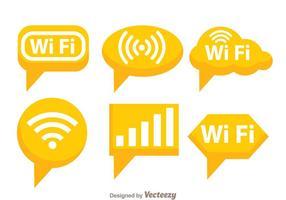 Símbolo laranja Wifi vetor