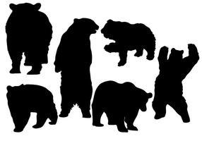 Vector de silhueta de urso livre