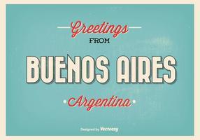 Ilustração de saudação estilo retro Buenos Aires vetor