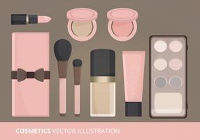 Ilustração vetorial de cosméticos vetor