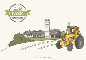 Fundo livre do vetor da cena da fazenda