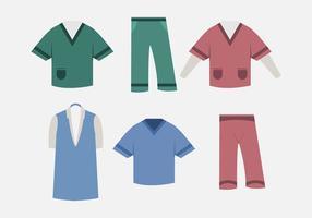 Enfermeira de vetores esfrega
