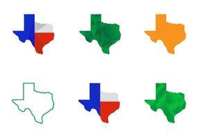 Vetores gratuitos do mapa do Texas