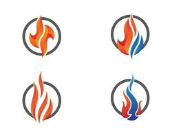 conjunto de ilustração de símbolo de fogo vetor