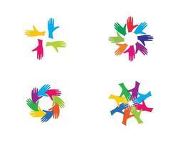 conjunto de logotipo da comunidade vetor