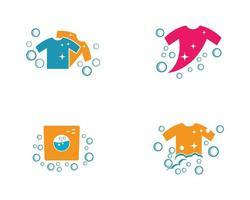 conjunto de logotipo de roupa vetor