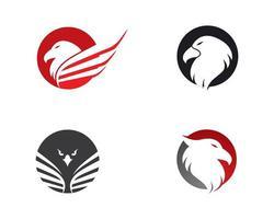 conjunto de logotipo de águia vetor