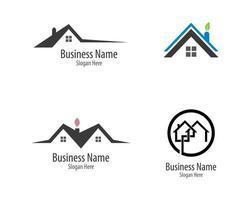 conjunto de modelo de logotipo de propriedade vetor