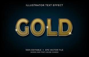 efeito de texto em maiúsculas de fonte de ouro vetor