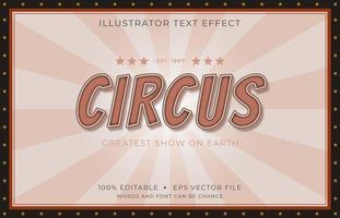 fonte de circo retrô com letras maiúsculas vetor