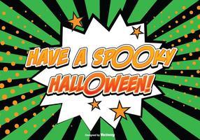 Ilustração Comic Style Halloween vetor