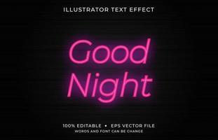 efeito de texto minúsculo rosa neon brilhante vetor